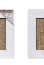 Glass Frame & Burlap Sign