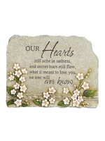 Carson Home Accents Peaceful Reflection Stone - Hearts