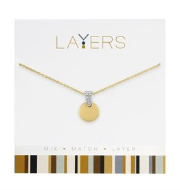 Gold Disc Layers Necklace