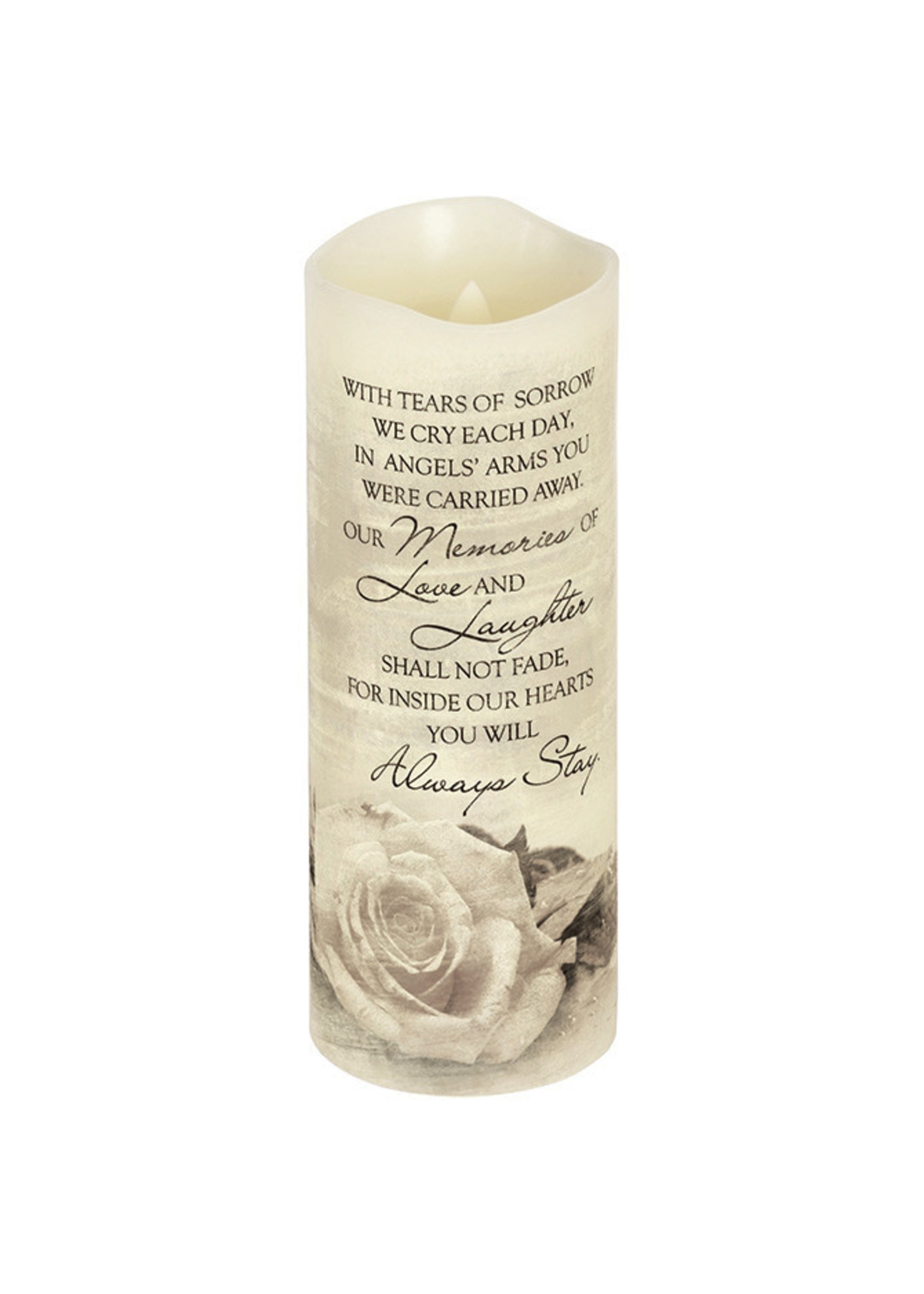"""""""Angel's Arms"""" Flickering Candle"""