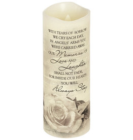 """Angel's Arms"" Flickering Candle"
