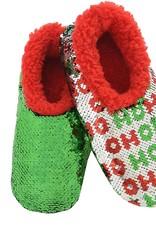 Ugly Christmas Reversible Bling Slippers