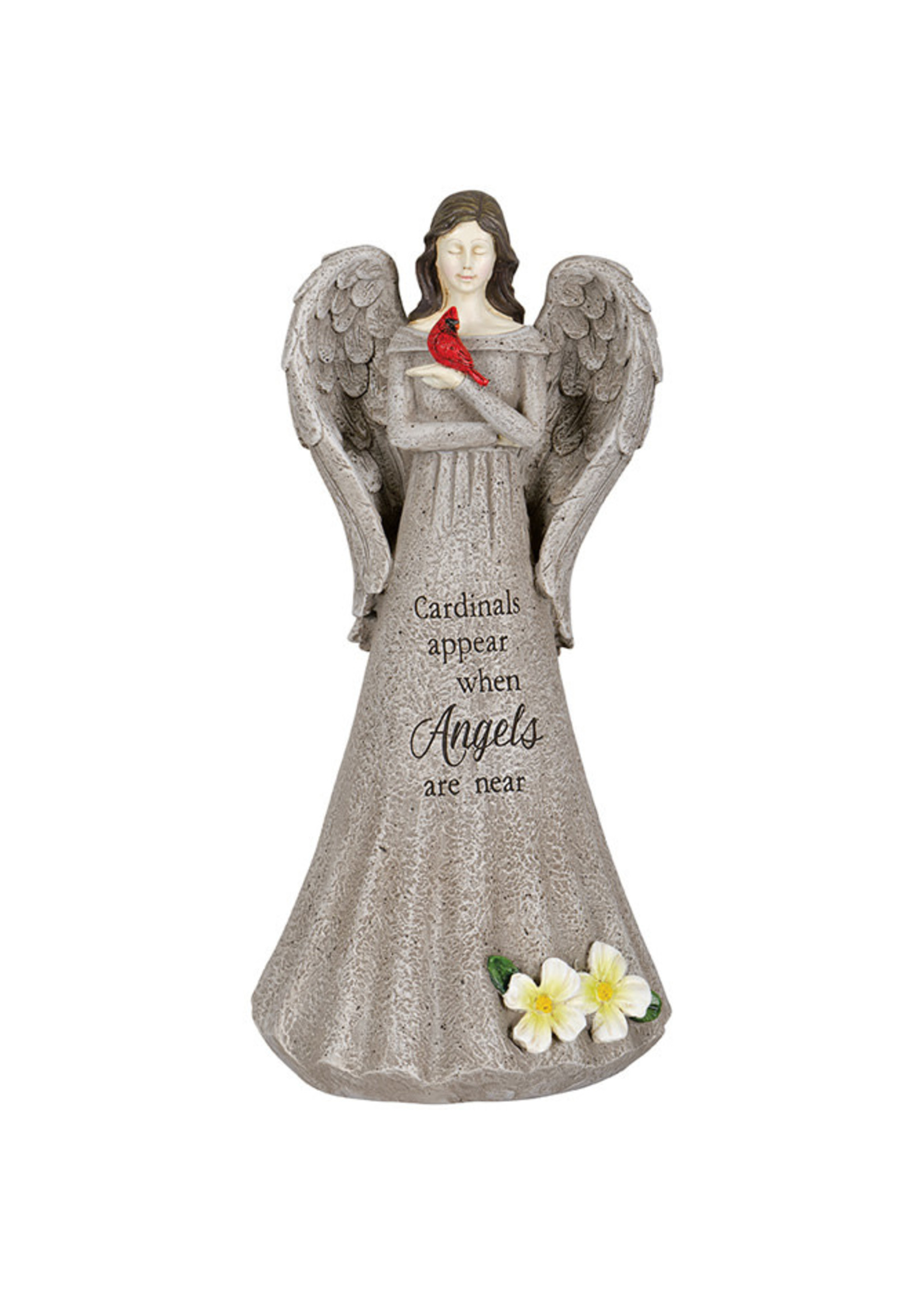 """""""Angels Are Near: Cardinal Memorial Statue"""
