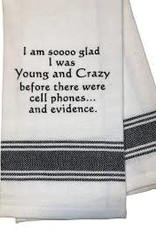 Wild Hare Designs Glad I Was Young and Crazy Before Towel