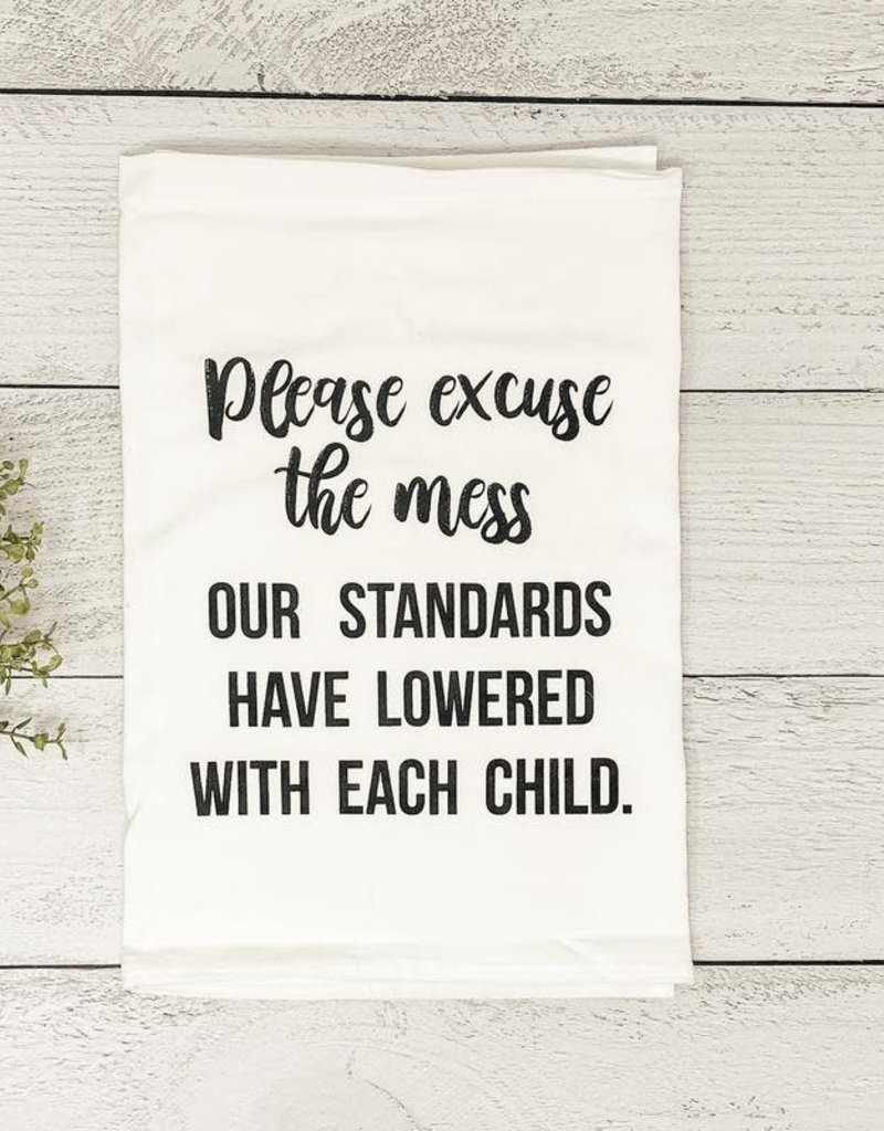 Standards Lowered with Each Child Towel