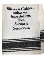 Wild Hare Designs Silence is Golden Towel