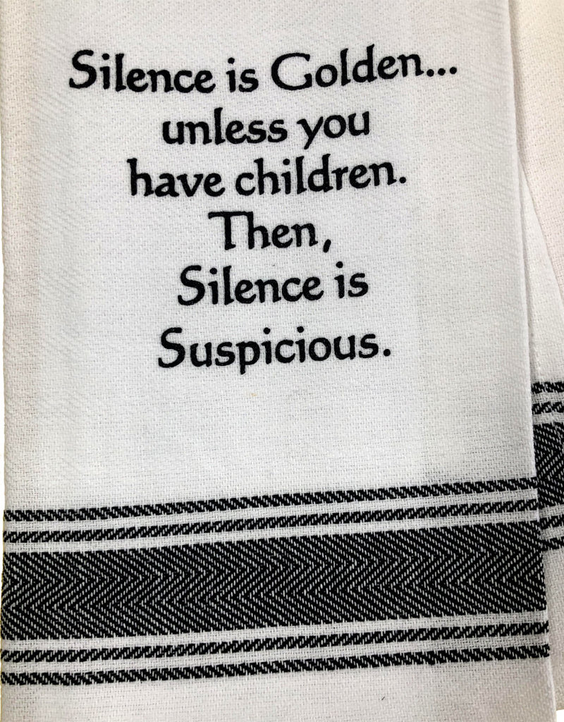 Silence is Golden Towel