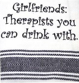 Girlfriends-Therapist Drink Towel
