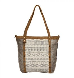 EMBLEM SIDE HAIR TOTE BAG S-1249