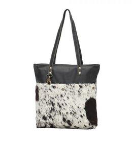 Myra Bags Black Shades Hair on Tote Bag