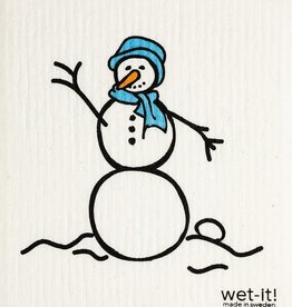 Wet-It Snowman Blue Swedish Cloth