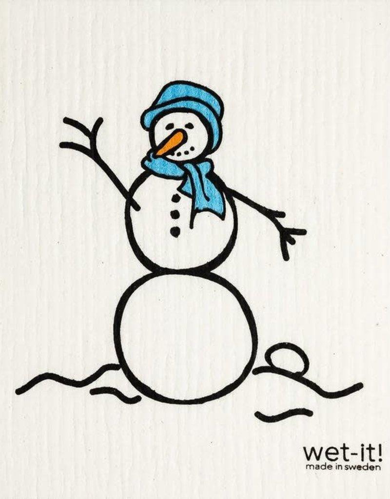 Wet-It Snowman Blue Swedish Cloth