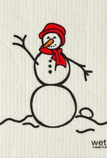 Wet-It Snowman Red Swedish Cloth