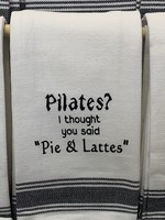 Wild Hare Designs Pilates? Pie & Lattes Towel