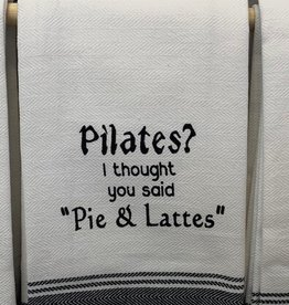 Wild Hare Designs Pilates? Pie & Lattes Towel