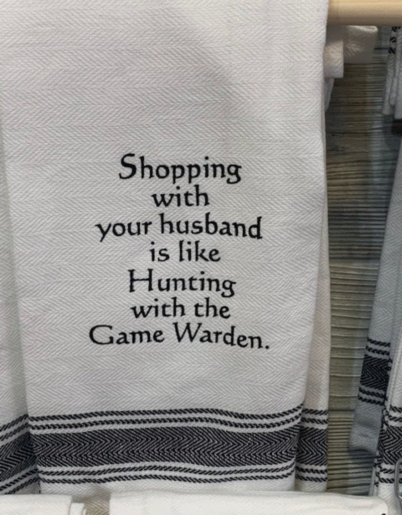 Wild Hare Designs Shopping With Your Husband...Towel