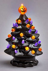 "13"" Halloween Ceramic Light Up Tree"