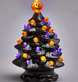 "13"" Halloween Ceramic Light Up Tree"