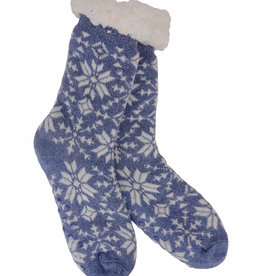 Mirabeau Heather Blend Snowflake Knit Thermal Slipper Socks