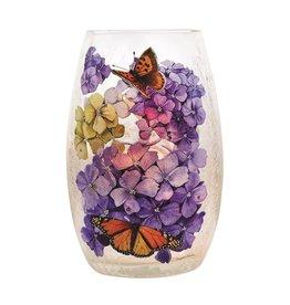 Hydrangeas & Monarchs Pre-Lit Small Vases
