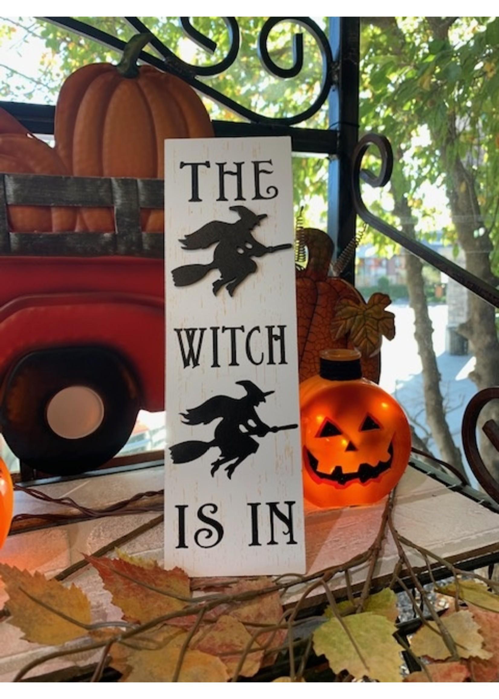 Rectangular Witch Sign