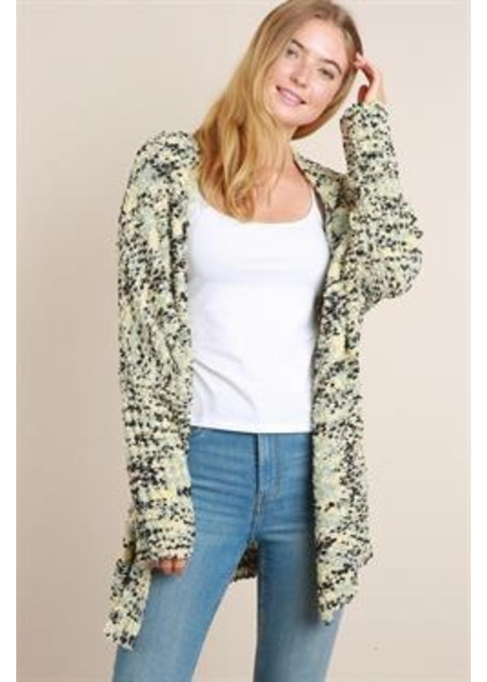 L Love Multi Color Popcorn Sweater