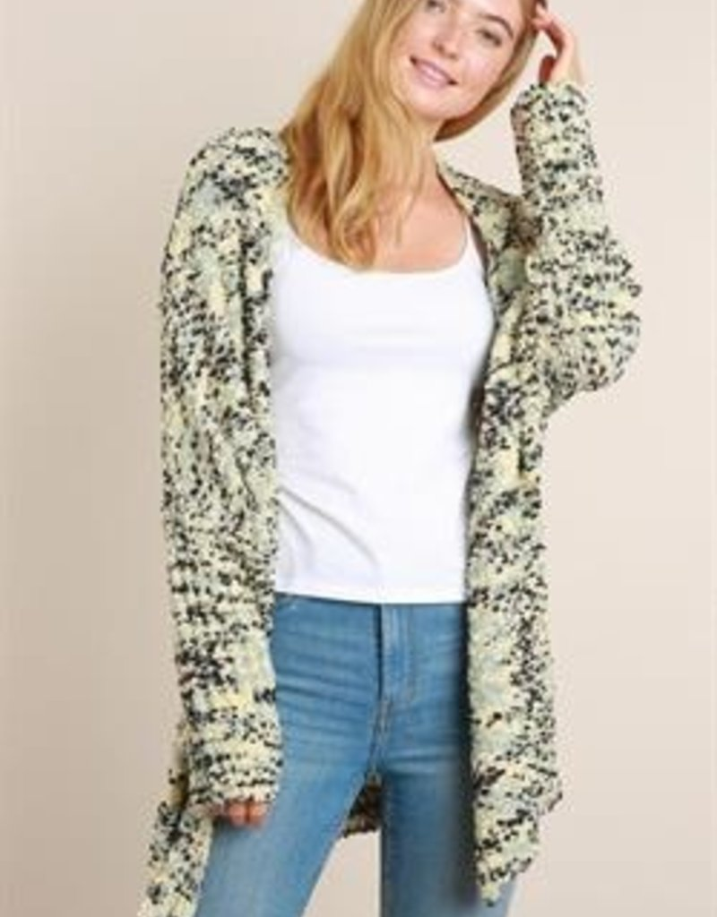 L Love Multi Color Popcorn Sweater