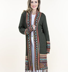 Very Moda Native Cardigan With Fringe