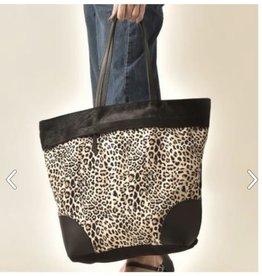cott n curls Leopard Medium Tote