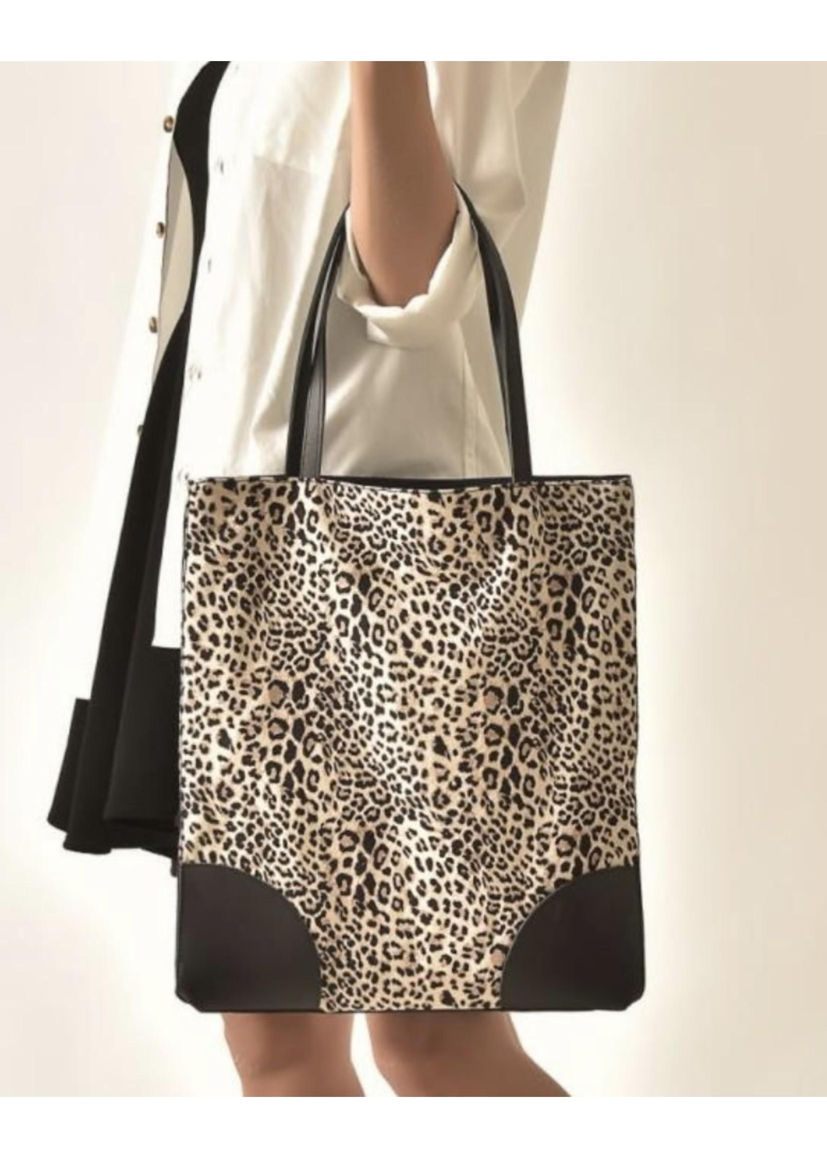 cott n curls Leopard Book Bag