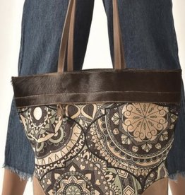 cott n curls Mandala Blue Medium Tote
