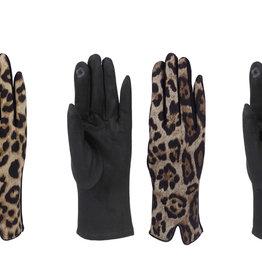 Fashion by Mirabeau Lily Leopard Print Fashion Gloves