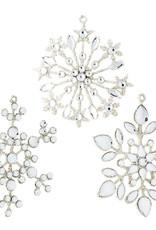 "Raz Imports 4"" Jeweled Snowflake Ornament, Asst"