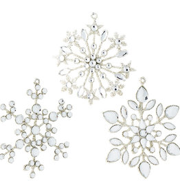 "Raz Imports 4"" Jeweled Snowflake Ornament, Asst"