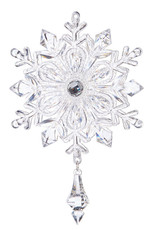 "Raz Imports 7"" Snowflake with Crystal Drop Ornament"