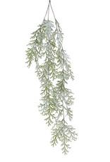 "Raz Imports Iced Cedar Hanging Spray 31"""