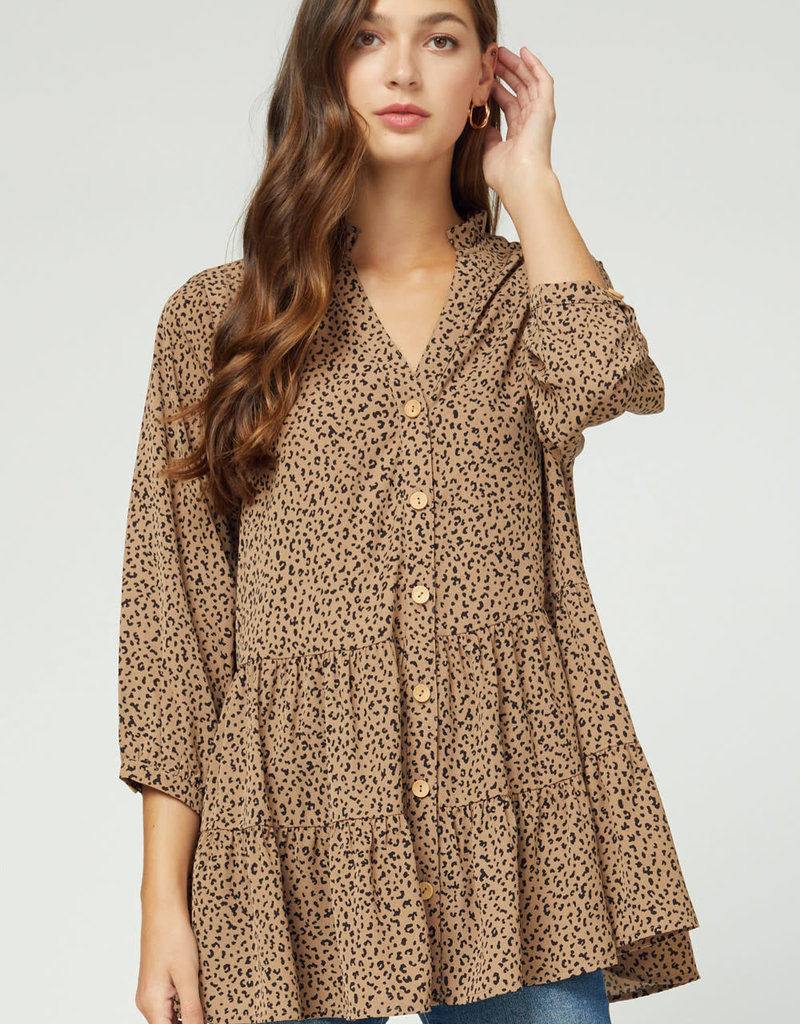 Entro Brown With Black Spots Shirt