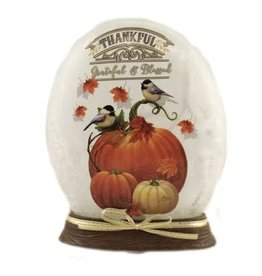 Thankful & Blessed Oval Vase with Resin Base