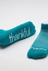 Notes to Self I Am Thankful Socks Teal Medium
