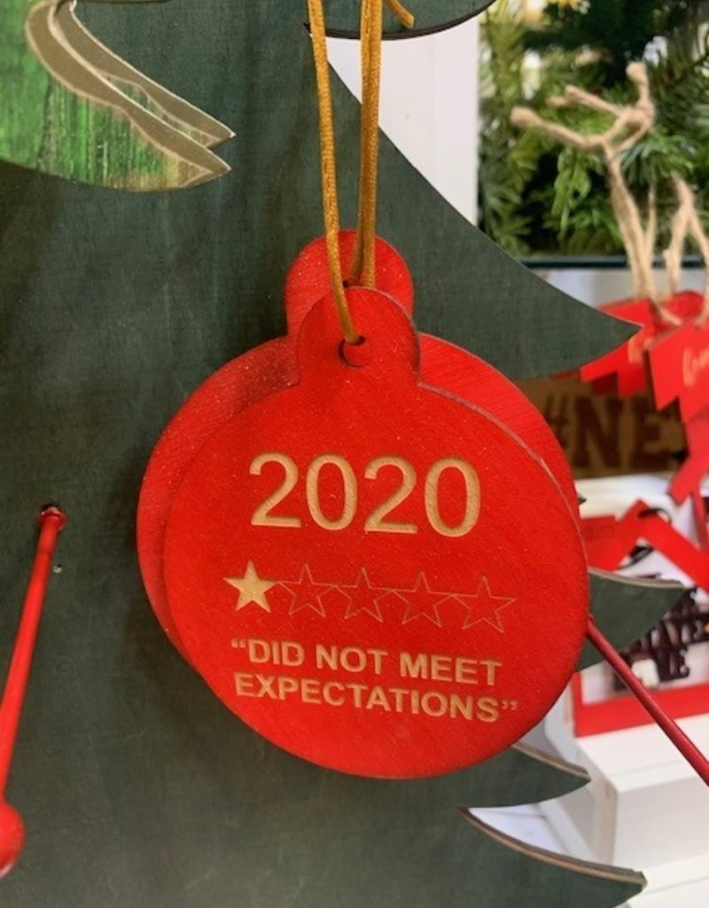 kbk 2020 Did Not Meet Expectations Ornament