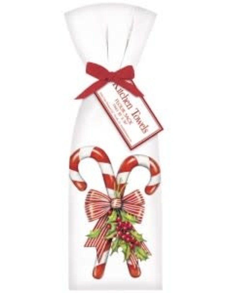 Mary Lake Thompson Candy Cane with Holly Bagged Towel
