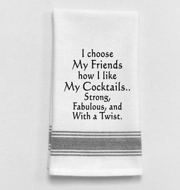 Wild Hare Designs I Choose My Friends...Towel