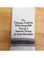 Wild Hare Designs Decision Making Squirrel Towel