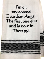 Wild Hare Designs I'm On My Second Guardian Angel Towel