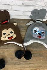 Kids 2 Piece Animal Hat and Mitten Set, Asst
