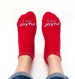 Notes to Self I Am Joyful Socks Red Large