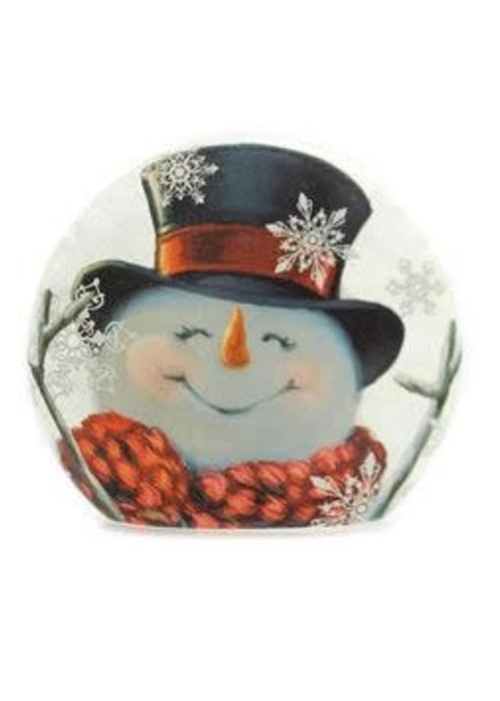 """Stony Creek Joyful Snowman 6"""" Illuminated Lamp"""