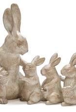 Burton + Burton Natural Bunny Family Figurine