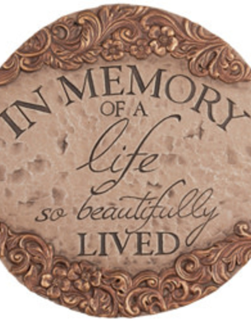 "Carson Home Accents Garden Stone - ""In Memory"""