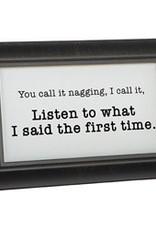 "Carson Home Accents ""Listen"" Framed Message Bar"